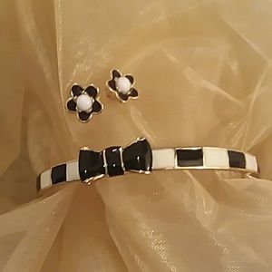 Authentic Kate Spade bangle bracelet and earrings